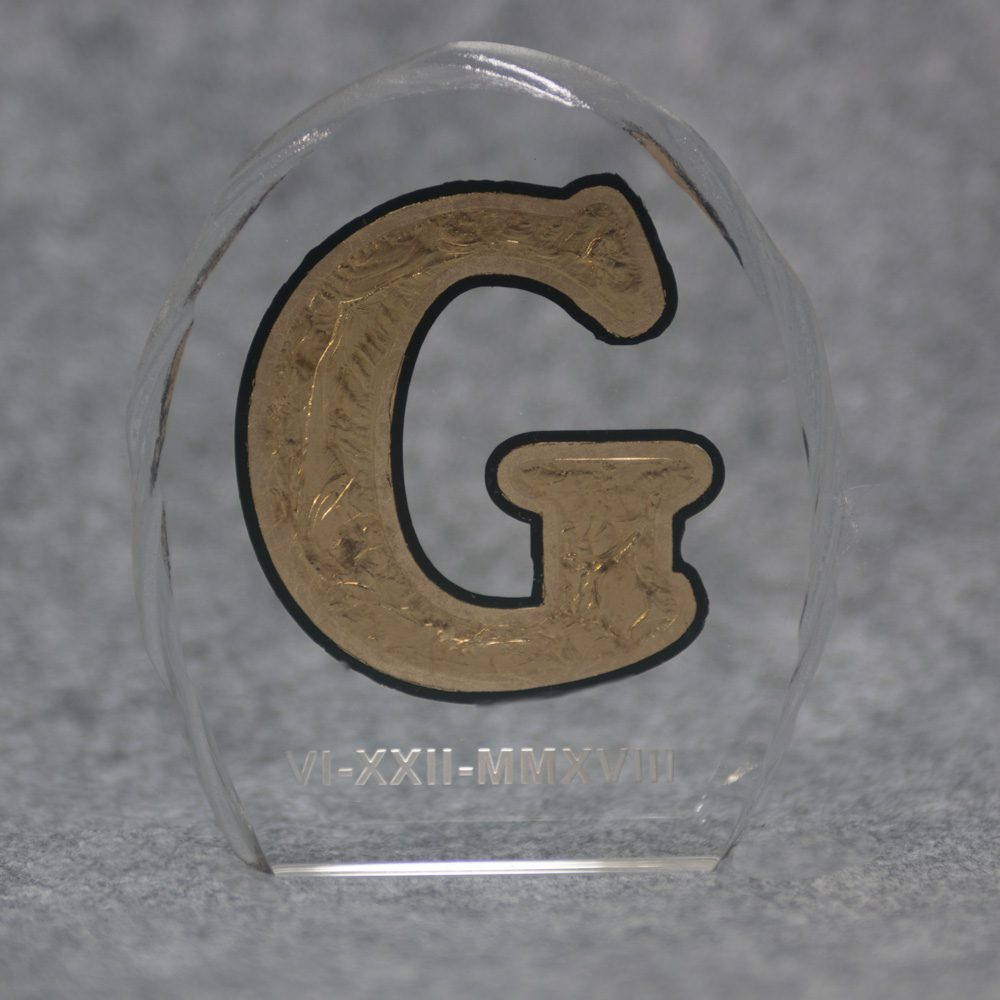 Glue Chipped Gilded Award.