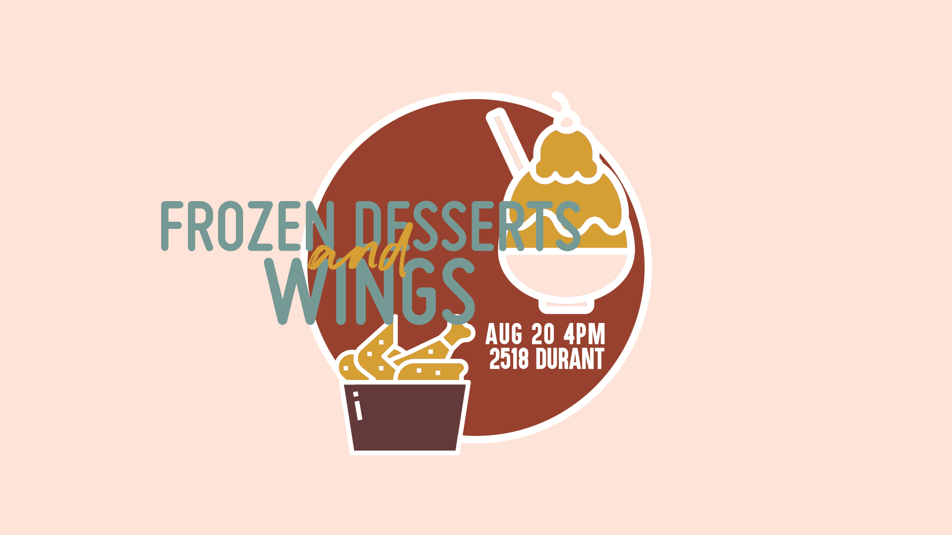 UC Berkeley college student fellowship group on campus event - frozen dessert and wings