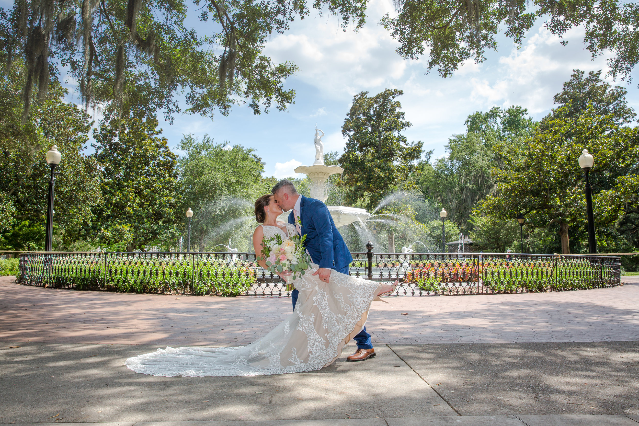 Savannah Wedding Forsyth Park