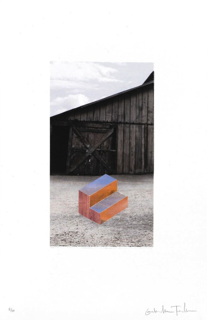 Sunset Stair In Front of a Barn, $275  —Gabrielle Teschner, Tappan Collective