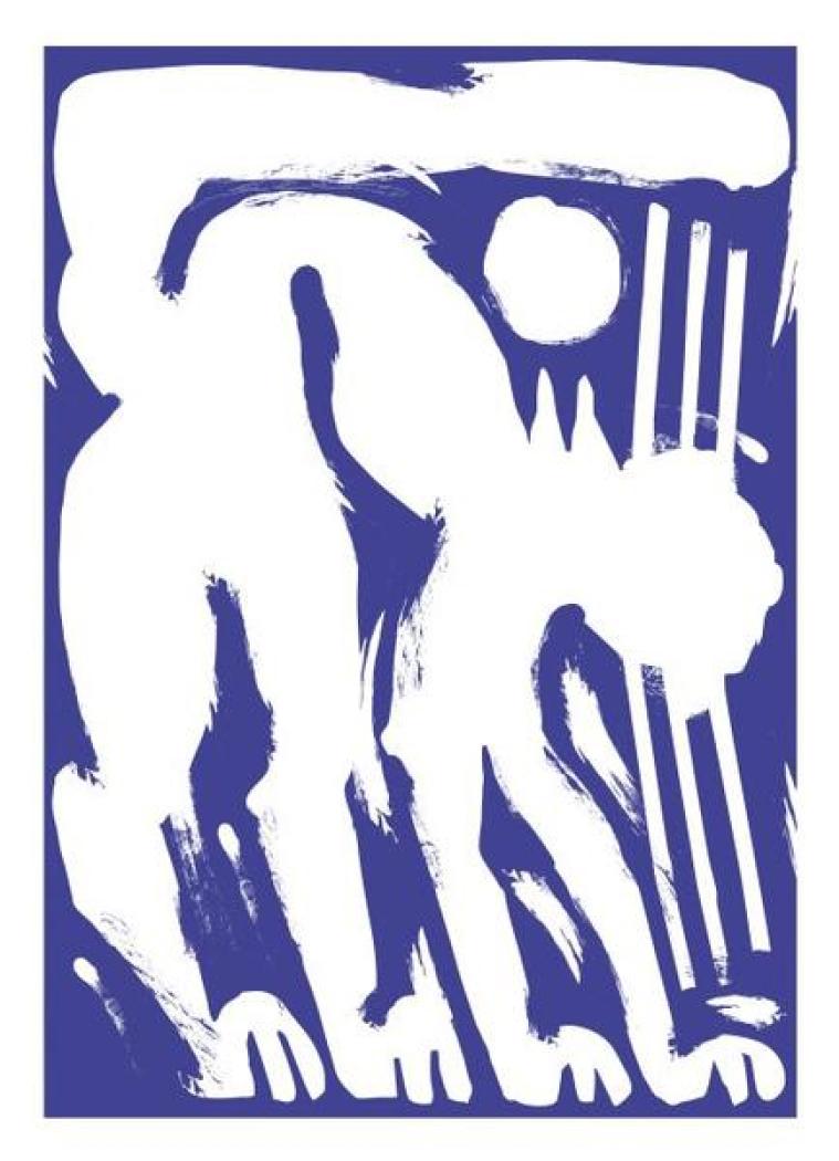 Refuge Print – Cat in Blue, £50  — Jordy van den Nieuwendijk , They Made This