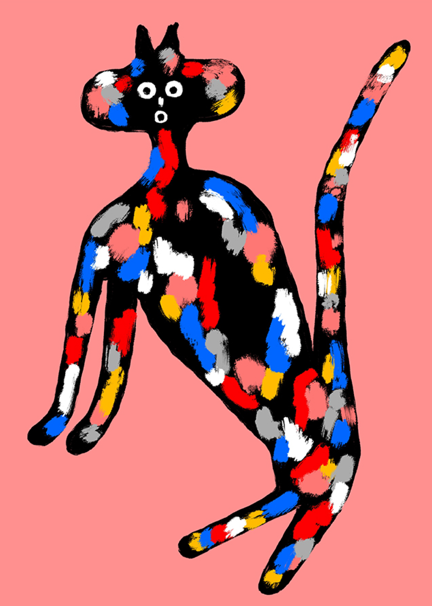 Sassy Cat 3, £40  —Good Day Club - Open Editions