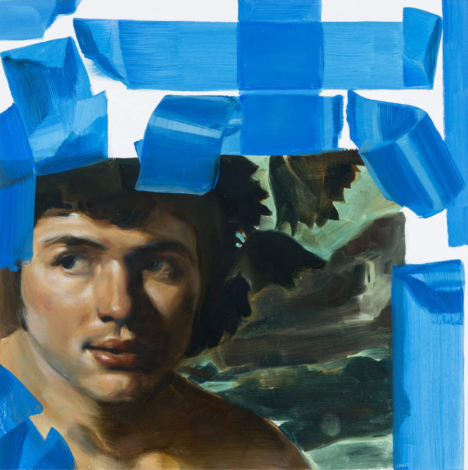 Bacchus (Blue Tape) 2, $250  —Julia Powers, Works By Friends
