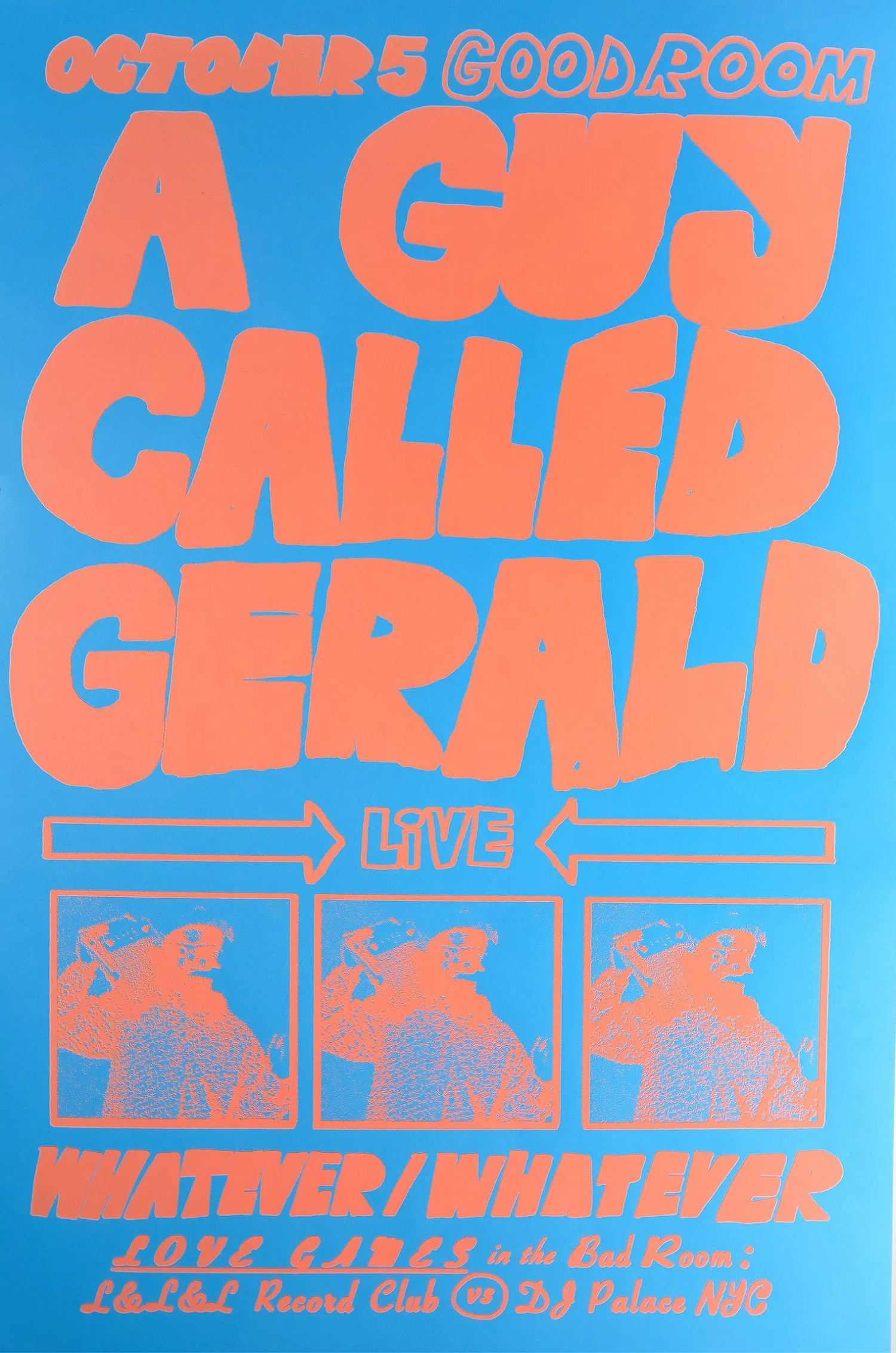 A Guy Called Gerald / Good Room Poster, $70  — Bráulio Amado, SSHH
