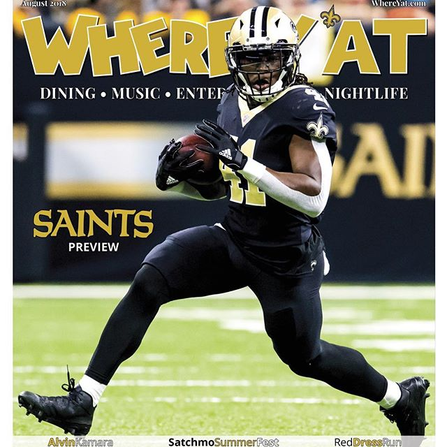 Excited to have my Alvin Kamara shot on this months Where Y'at cover! Check out the magazine. @alvinkamara @whereyatnola #nikon #saints #sportsphotography #nolasports #nolashots