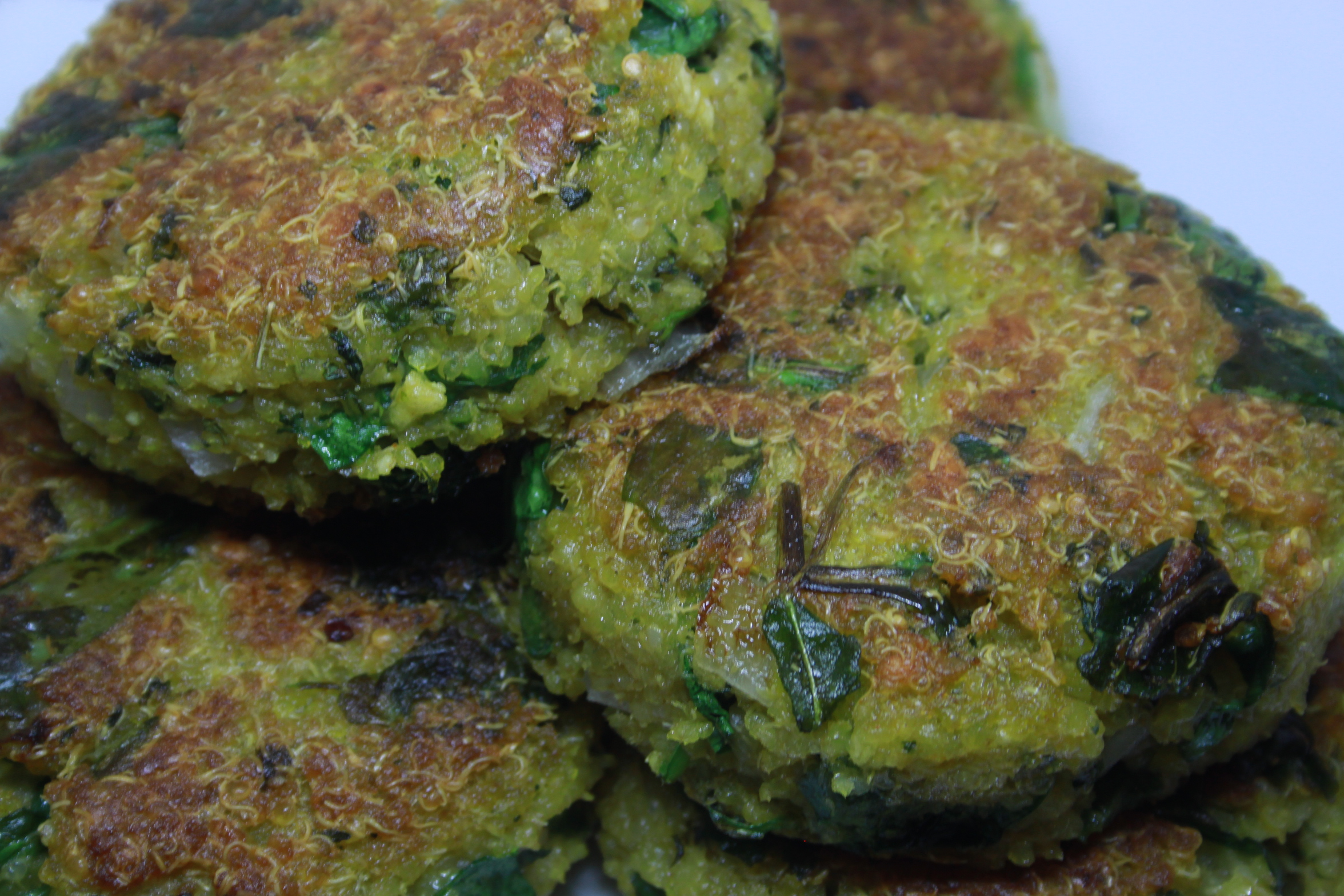 Quinoa Cakes - $10 (3) - Plant-based versions of crab cakes!Ingredients: Quinoa, Spinach, Onion, Gluten Free Bread Crumbs, Egg Replacer, Salt, Garlic and Onion Powder, Grapeseed Oil