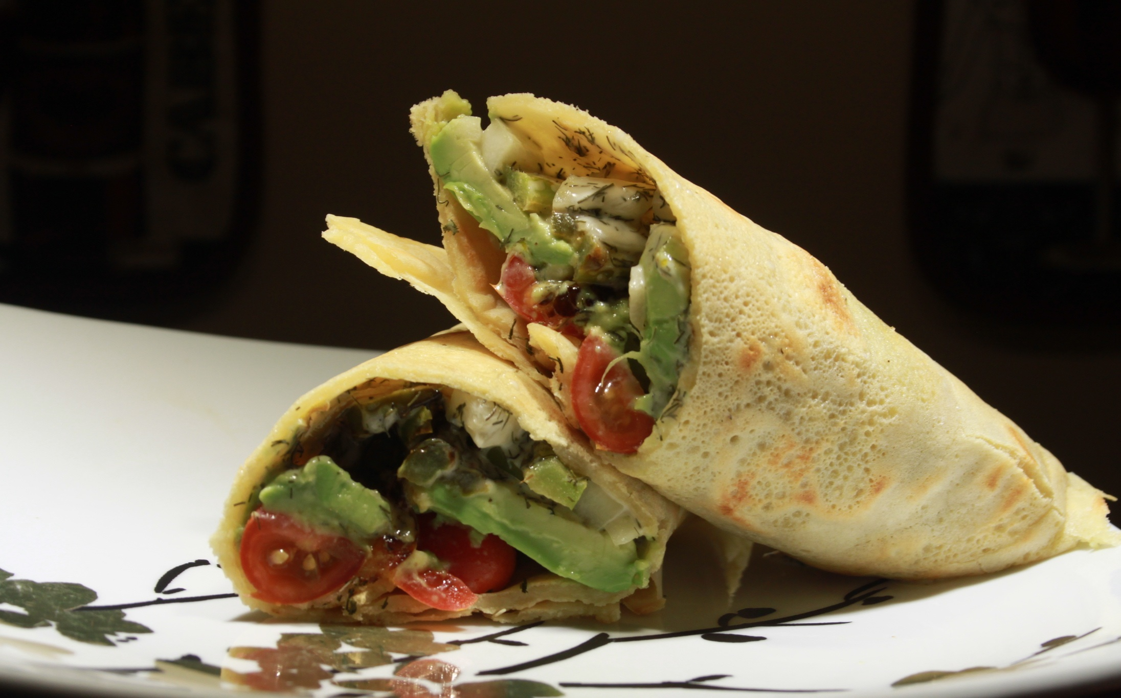 Chipotle Wrap - $11 - Sauteed veggies and steamed wild rice smothered with our homemade chipotle sauce and wrapped inside a spelt tortilla wrap.Ingredients: Zucchini, Wild Rice, Avocado, Onions, Chipotle Sauce, Spelt Tortilla, Turmeric, Cumin, Sea Salt, Grapeseed Oil