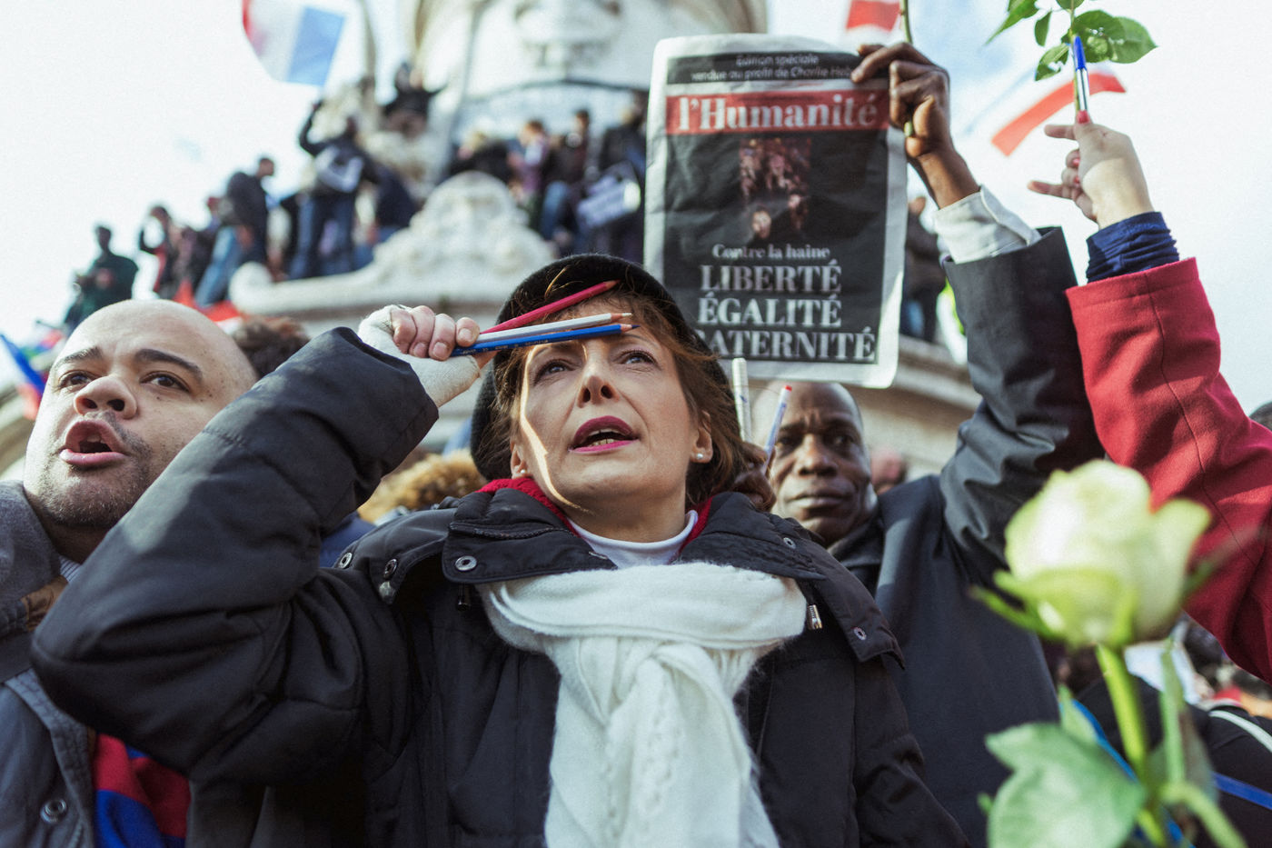 TRIBUTE TO VICTIMS OF CHARLIE HEBDO NEWSPAPER ATTACKS