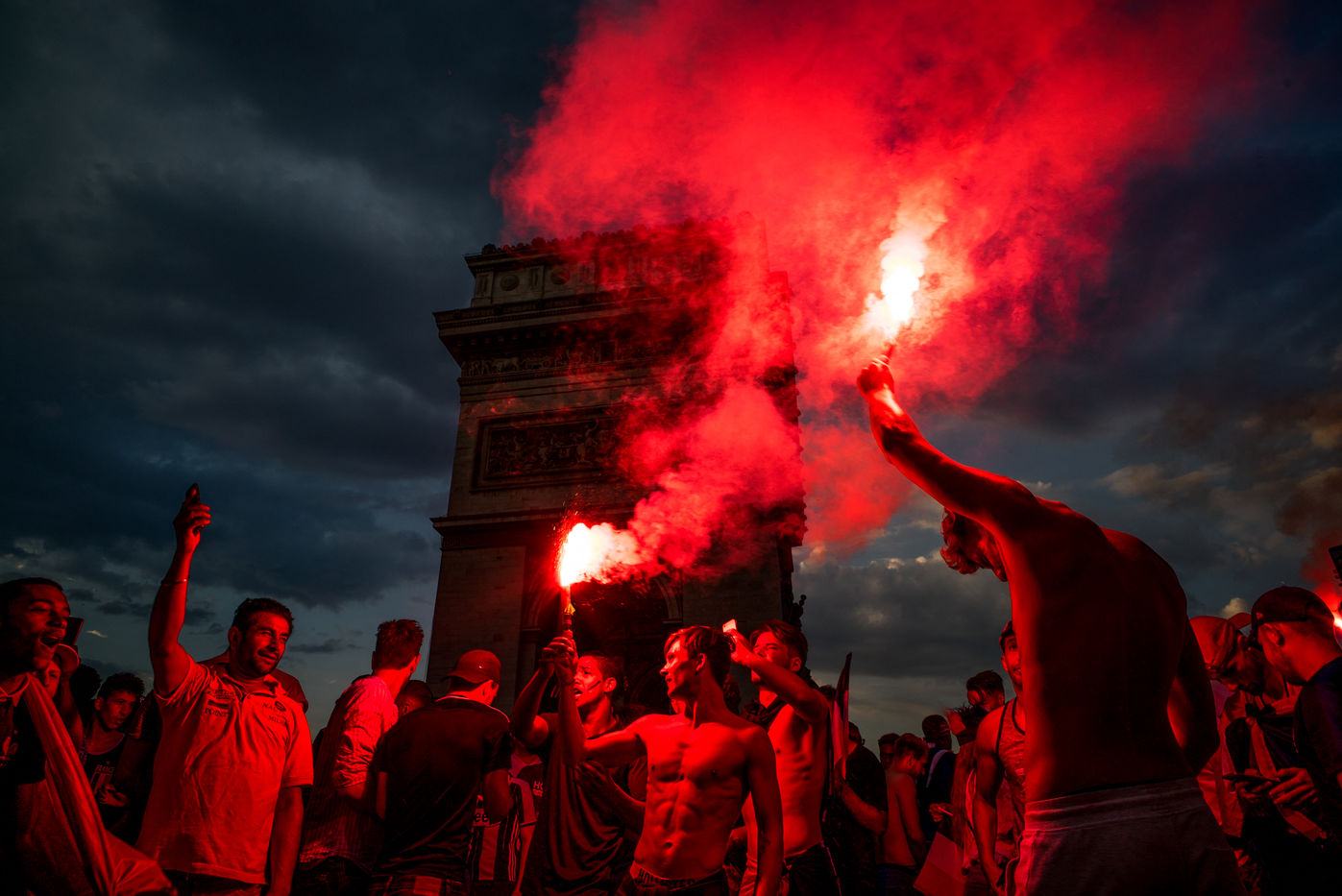 France Wins - World Cup 2018 - Russia -Fans Celebration - Paris