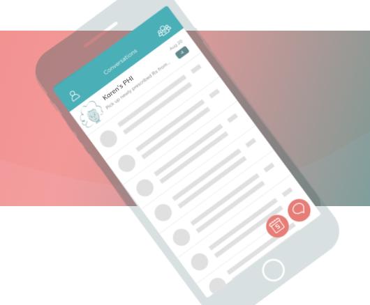 Your PHI digital binder on the Karen Mobile app.