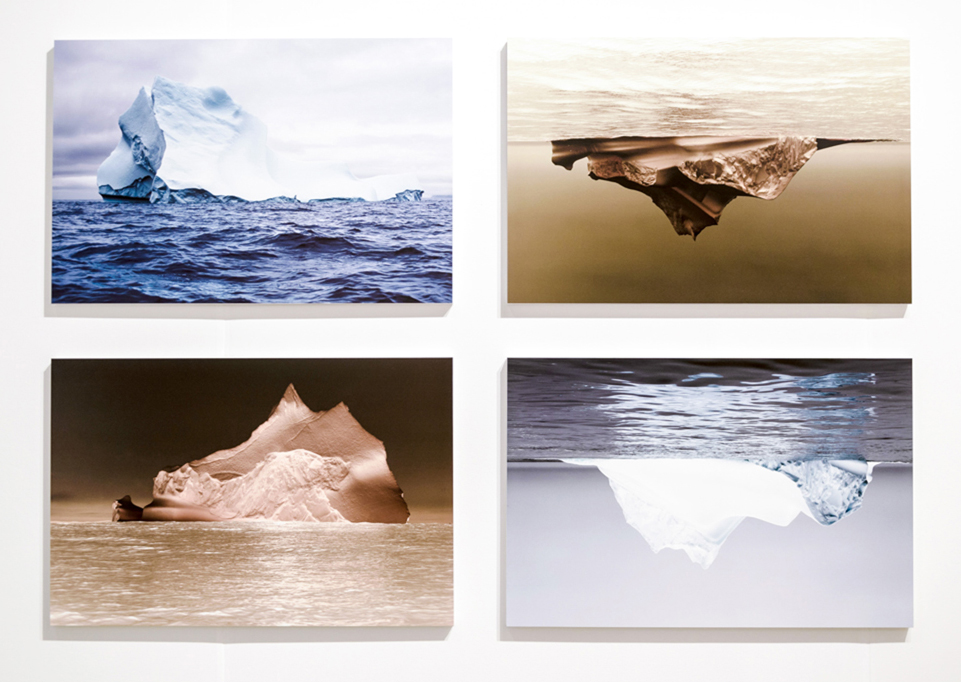 Single Iceberg (two by two) , 2016 4 archival pigment prints 20 x 30 inches; 51 x 76 cm, each 44 x 64 inches; 112 x 162.5 cm, overall Edition of 5