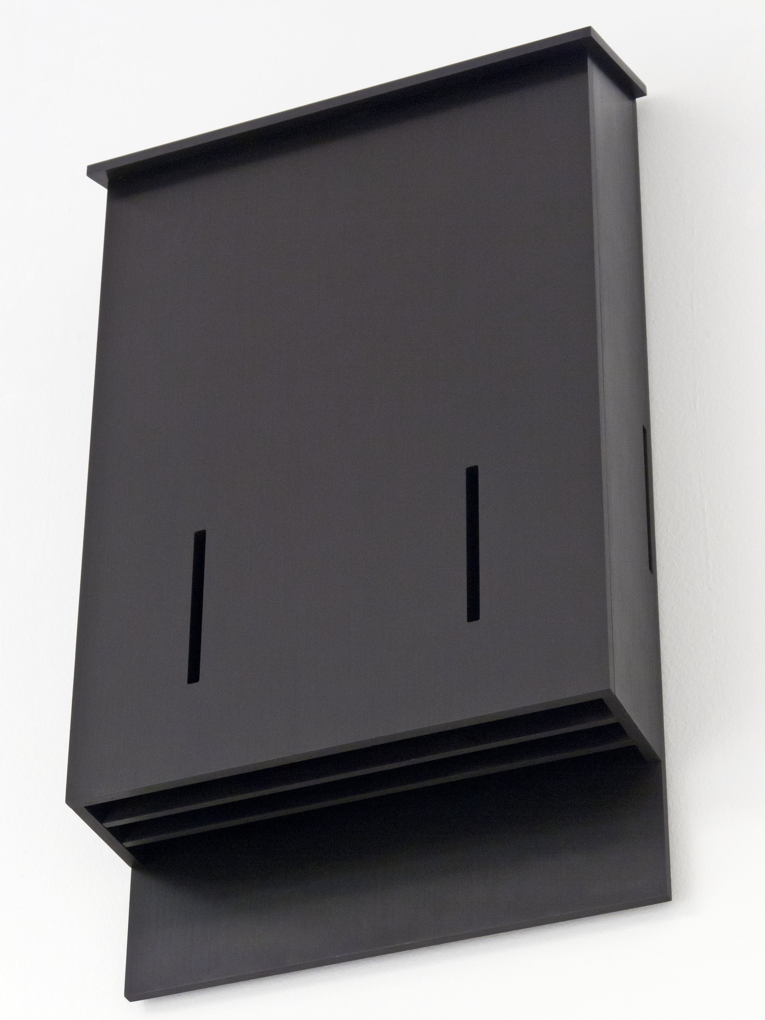 Bat House Prototype No. 1 , 2012 anodized aluminum 28-1/2 x 5-1/4 x 16-3/4 inches 72.4 x 13.3 x 42.5 cm Edition of 3, with 1 AP