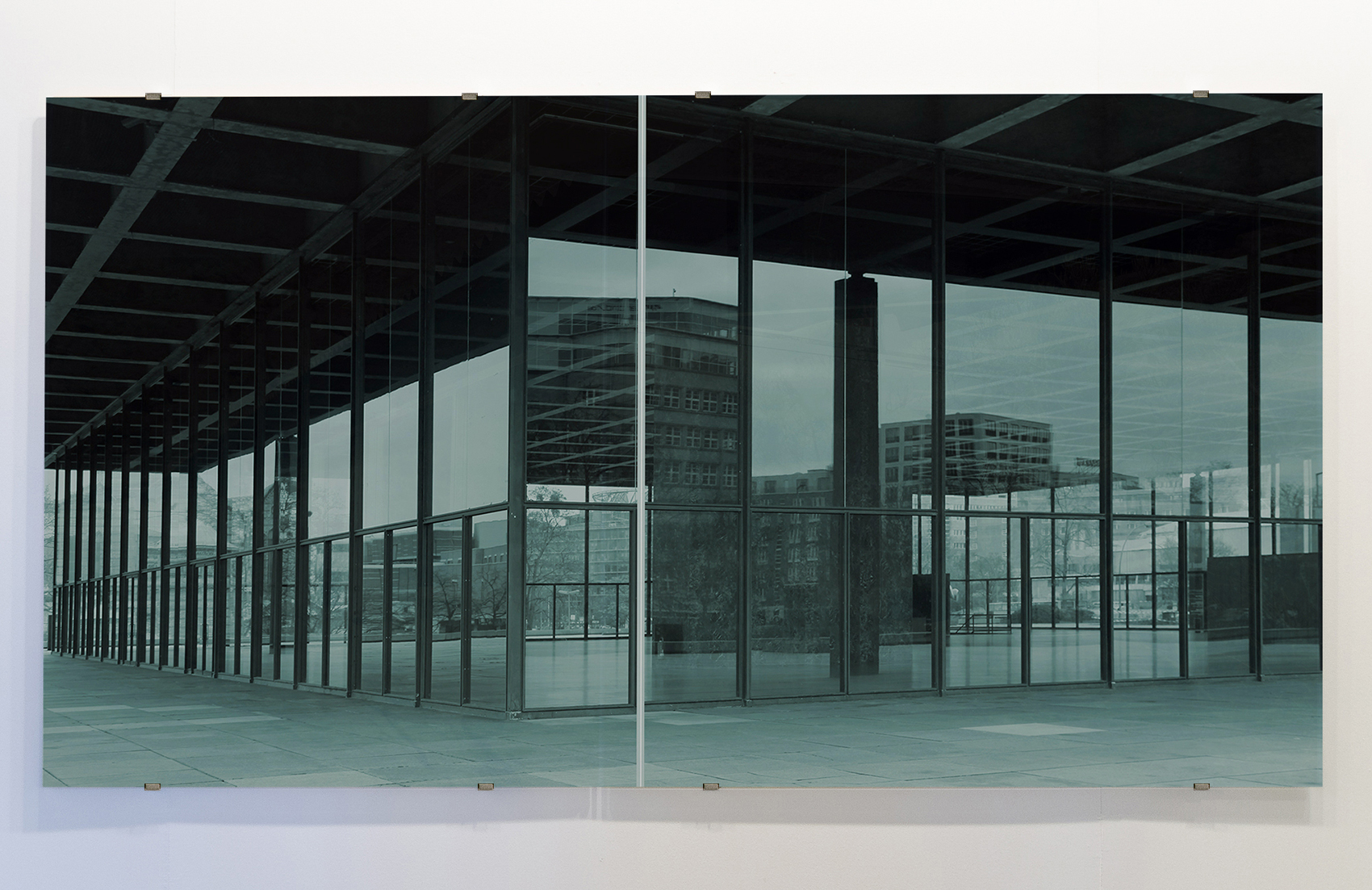 National Gallery , 2018 2-panel silkscreen print on glass overall dimensions:  59 x 114-1/8 inches, 150 x 290 cm Edition of 5