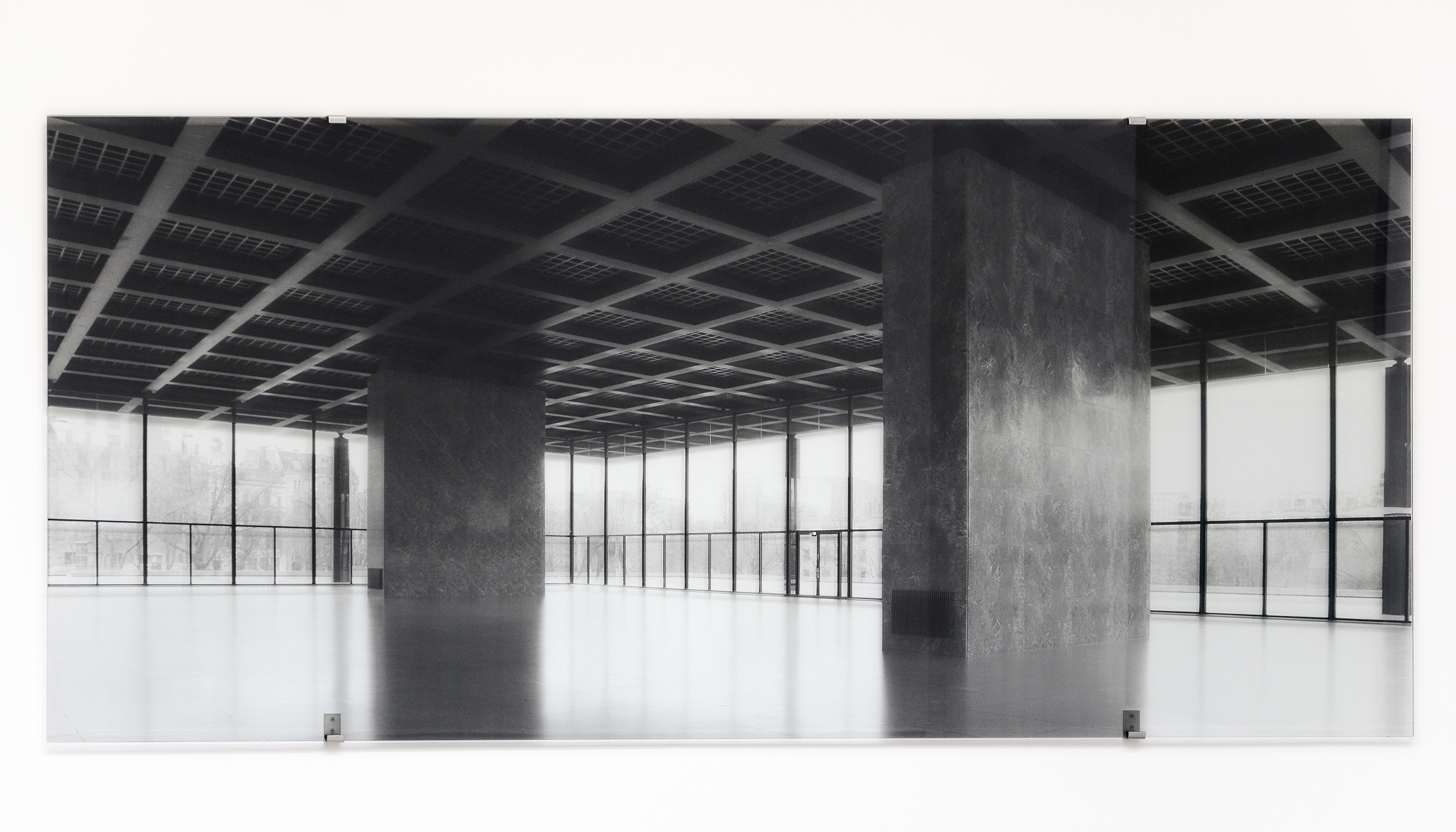 National Gallery, Ventilation Shafts , 2017 single-panel transparent silkscreen print on glass 43-1/4 x 96-1/2 inches 110 x 245 cm Edition of 5