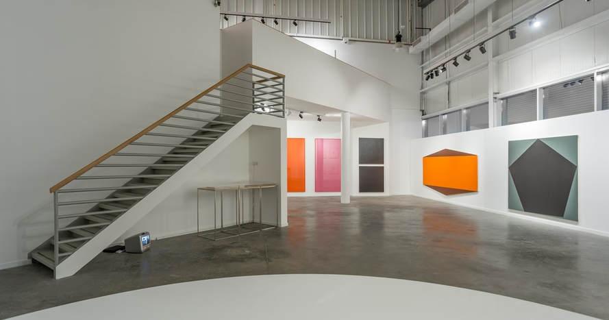 Olivier Mosset: Abstraction , installation view, Jean-Paul Najar Foundation, Dubai, United Arab Emirates, 2017