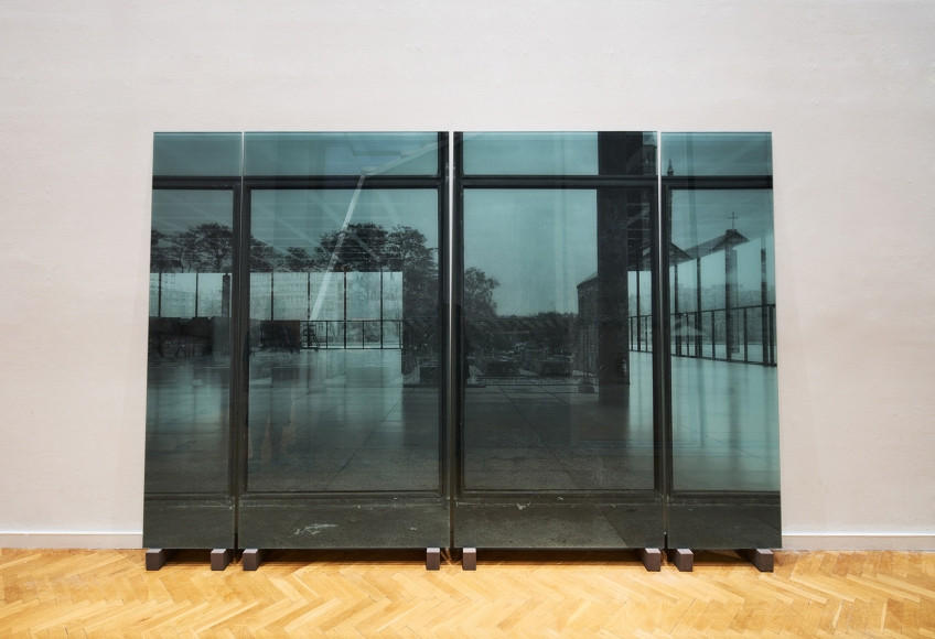 Kota Ezawa, installation view, The Crime of Art , SITElab, SITE Santa Fe, NM. Photo: Jeff Goldberg / ESTO