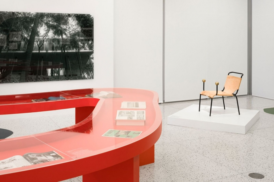 Veronika Kellndorfer,installation view, Albert Frey and Lina Bo Bardi: A Search for Living Architecture , Palm Springs Art Museum, CA, 2017. Photo: Lance Gerber
