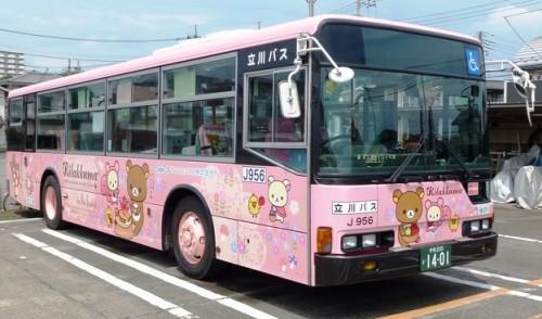 Rilakkuma bus in Japan. Rilakkuma is EVERYWHERE in Japan!
