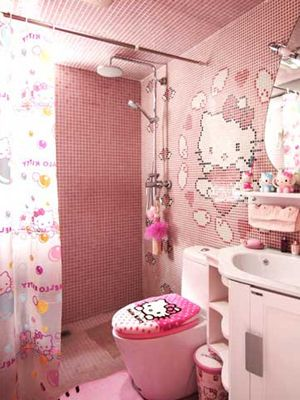 Extremely admirable Hello Kitty tile work.