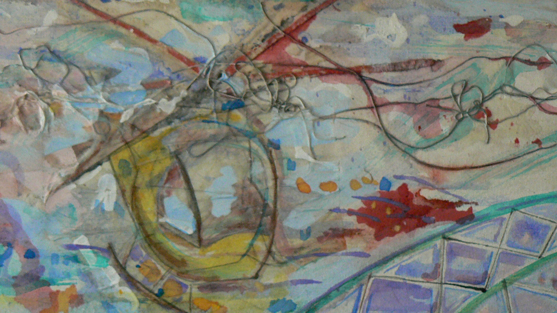 Helicopter  A crylic on Canvas  Inset of That-a-Way