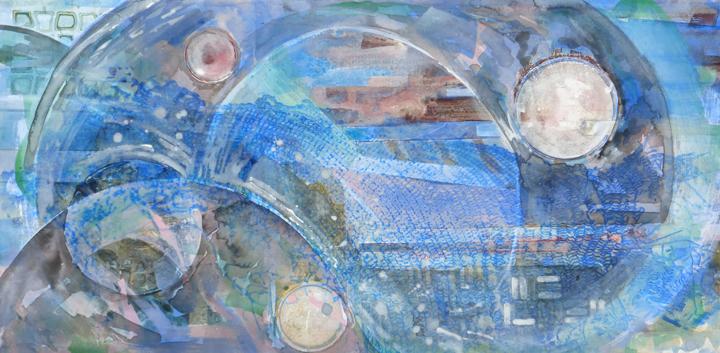 "Wave A crylic on Canvas  24"" x 48"""