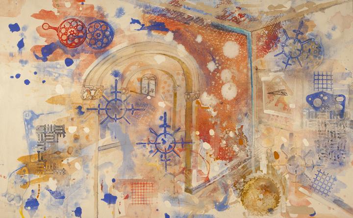 """El Mirador Dream Flight   Acrylic on Canvas  64"""" x 40"""""""