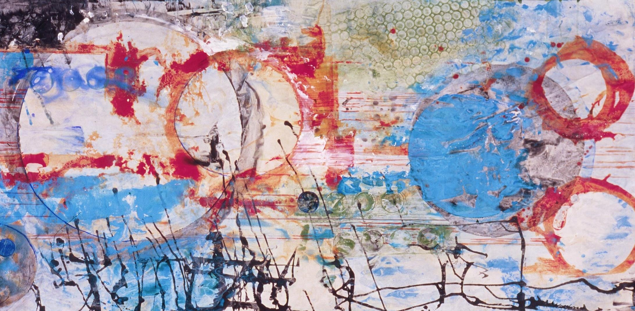 "Santa Anas  A crylic on Paper  42"" x 72"""