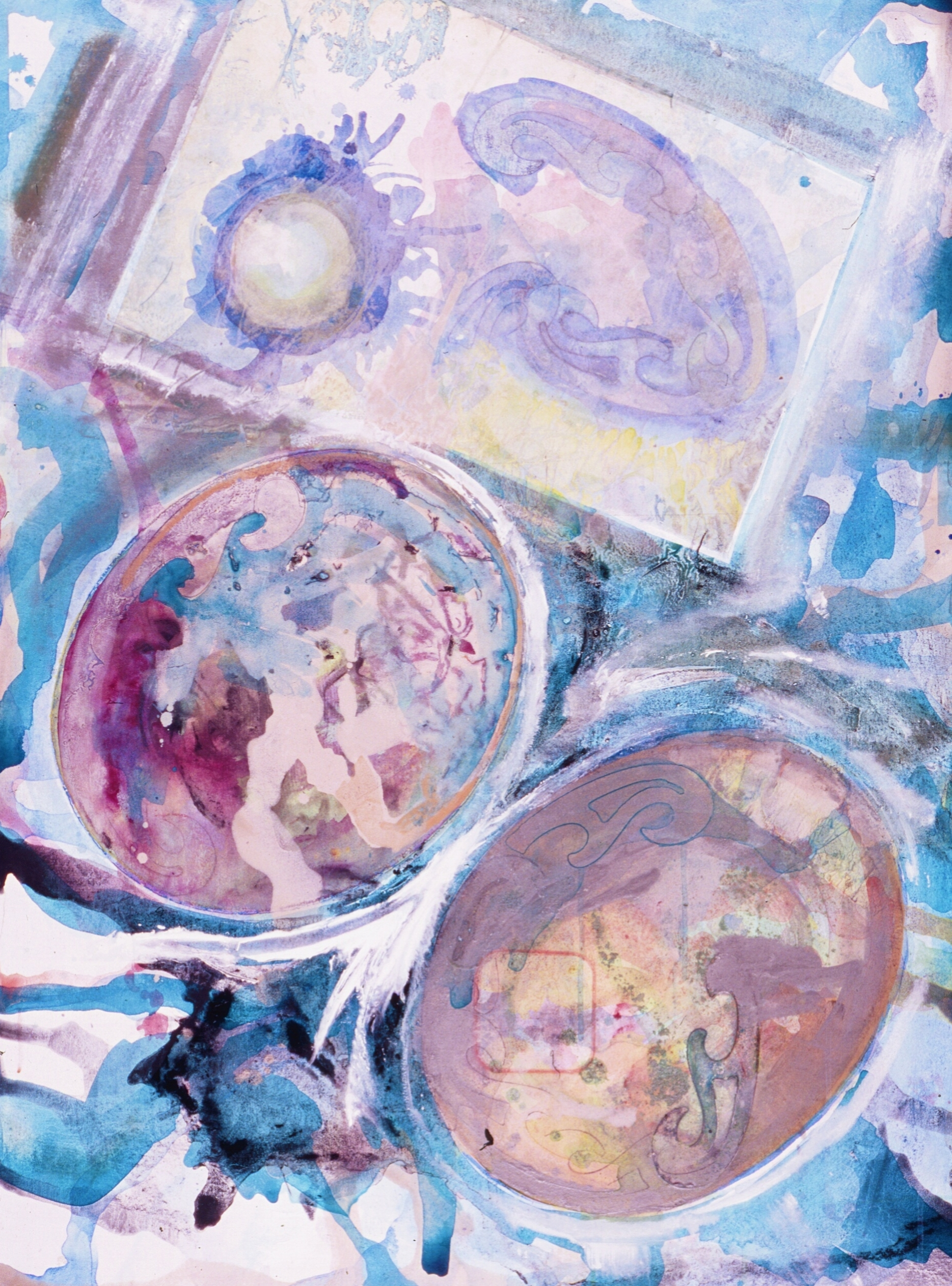 "Germination  A crylic on Canvas  on Panel 36"" x 48"""