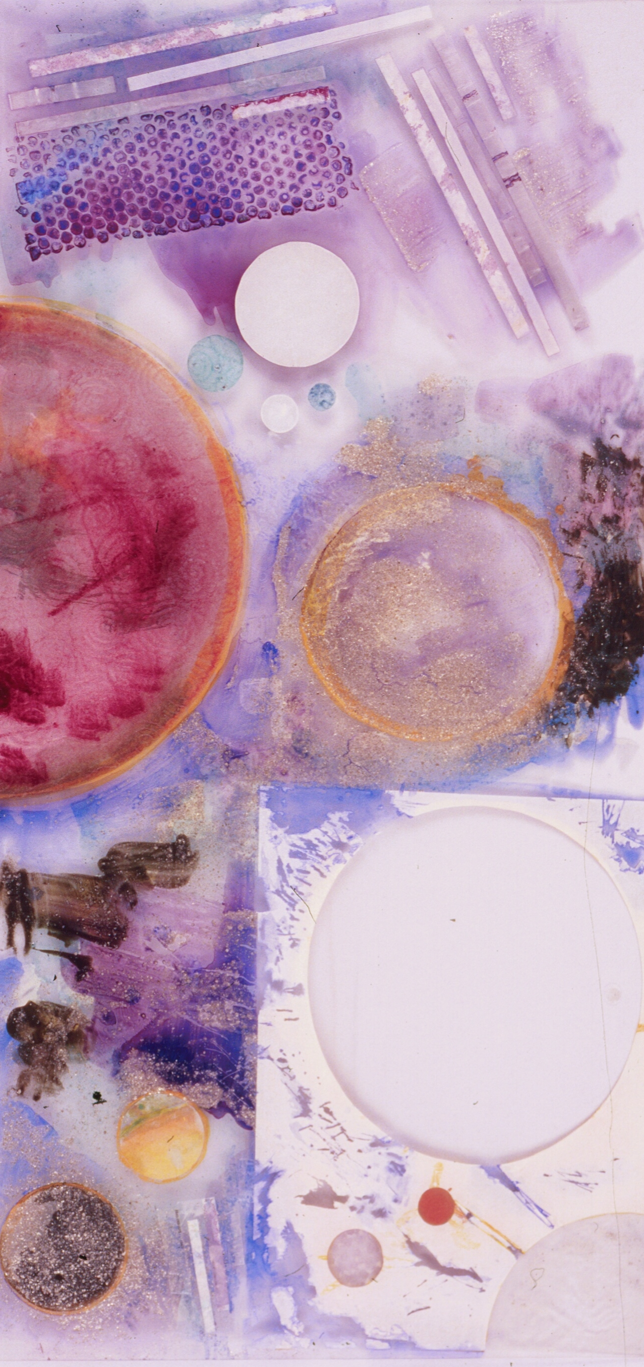 Ode to Popovov #4  A crylic on Plexiglass, Hinged Mahogany Panels, set of 4  size