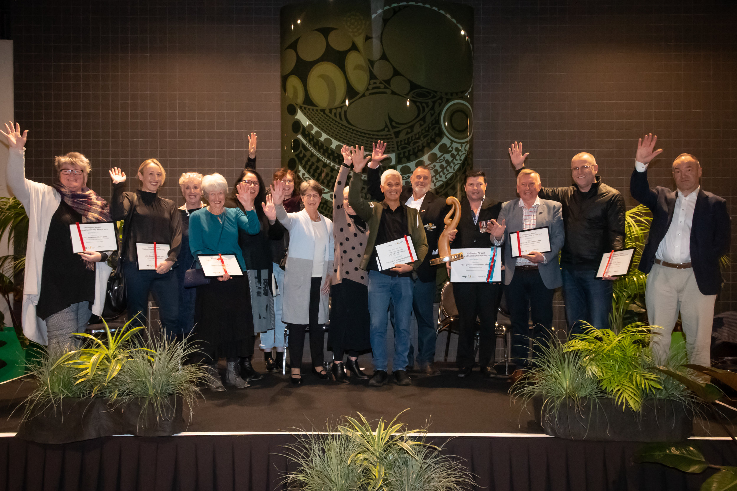 The Porirua winners of the 2019 Wellington Airport Community Awards.