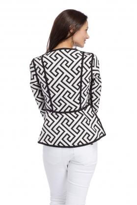 Trimdin Fitted Jacket Black and White Back.jpg