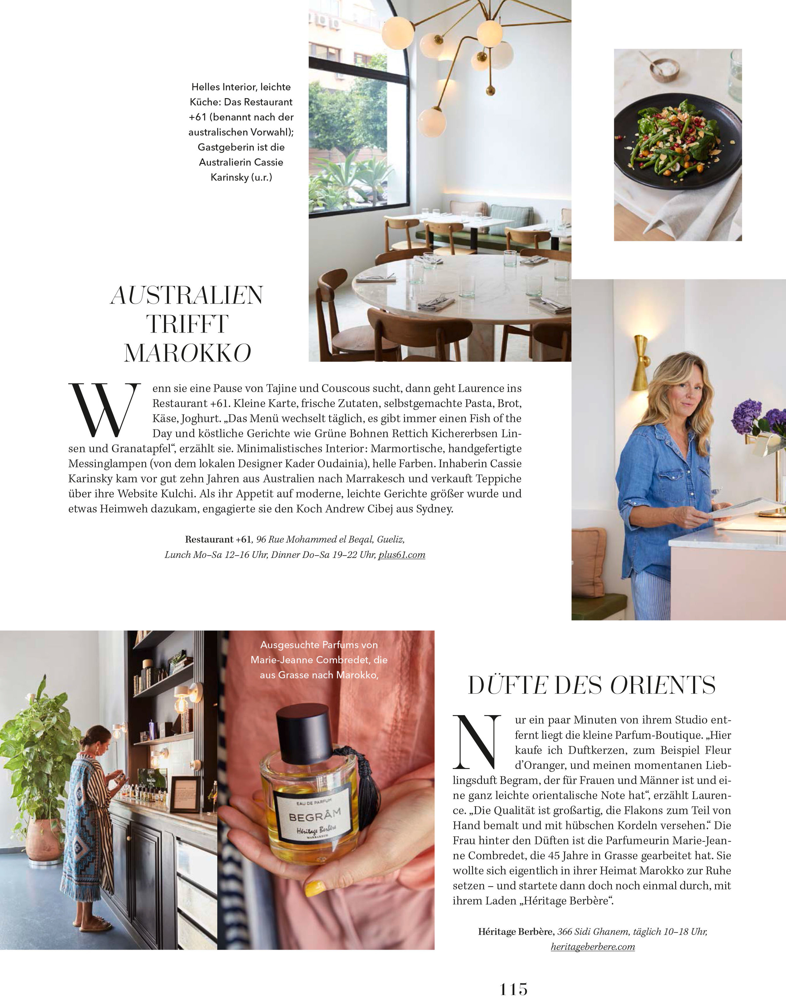 Salon Magazine Germany, March 2019  Photographer – Brita Sonnichsen  Text – Antje Wewer