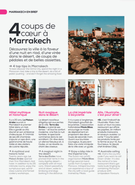 Transavia Inflight Magazine, Nov/Dec 2018  Text – Camille Tenneson