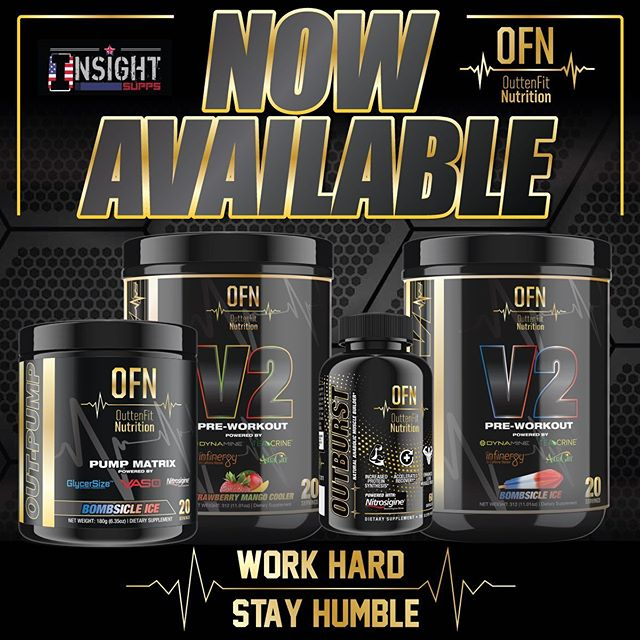 💥To all our friends in the UK, we are now LIVE and available for purchase through @insightsuppsltd be sure to check them out tag us with your new products!  Work Hard, Stay Humble. #ofnsupps #workhardstayhumble