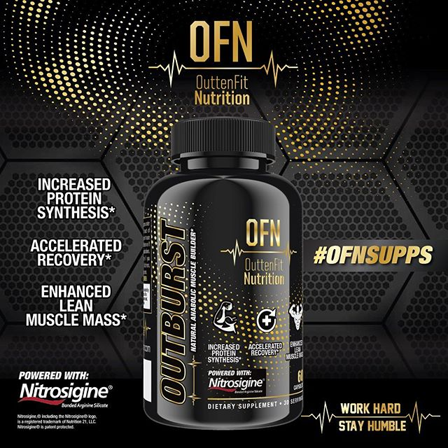 Less than 10 bottles left of our hit product OUTBURST, our natural anabolic which is primed to aid in recovery, muscle mass, thermogenesis and nitric oxide production! Be sure to grab one of the last bottles until our restock which will be at least 2 months out!  Very happy to see the positive feedback our products are getting thank you! If you're a store/distributor and want to get a batch made for you email us!  Work Hard, Stay Humble. #ofnsupps #workhardstayhumble