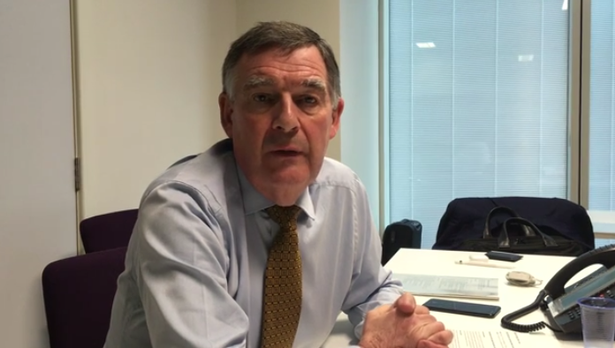 Allan Cook, HS2's chairman, at his Snow Hill office.  (Image: David Irwin)