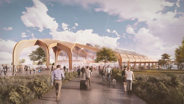 The new 'Birmingham Interchange' HS2 station in Solihull  (Image: Handout)