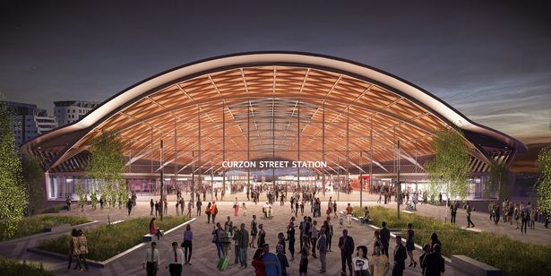 CGI of the new HS2 station in Curzon Street, Birmingham  (Image: HS2)