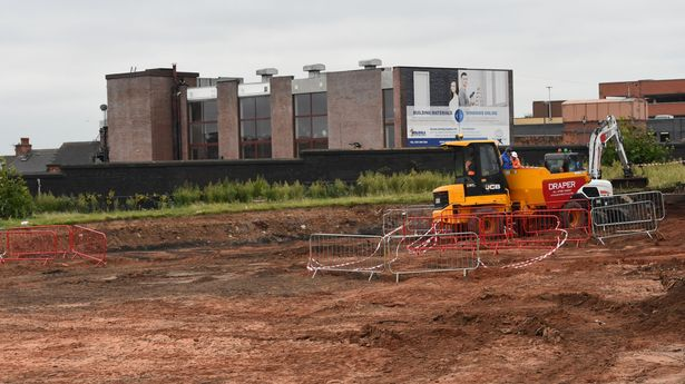 The HS2 development site near Curzon Street Station in Birmingham city centre.