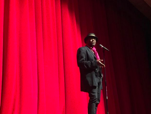 Regie Gibson performing at the 2017 BHS POL Finals