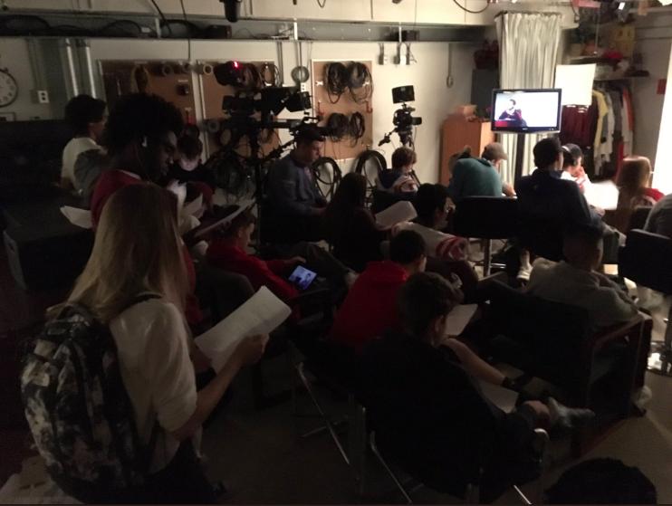 BHS seniors in the BCAT Studio. Photo originally posted on Twitter @bcattv.