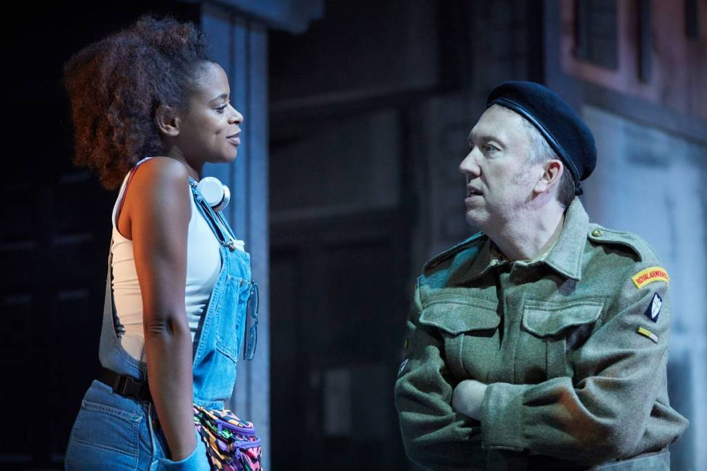 Ayesha Antoine as Irie Jones and Richard Lumsden as Archie Jones. Photo courtesy of the Kiln Theatre (2018).