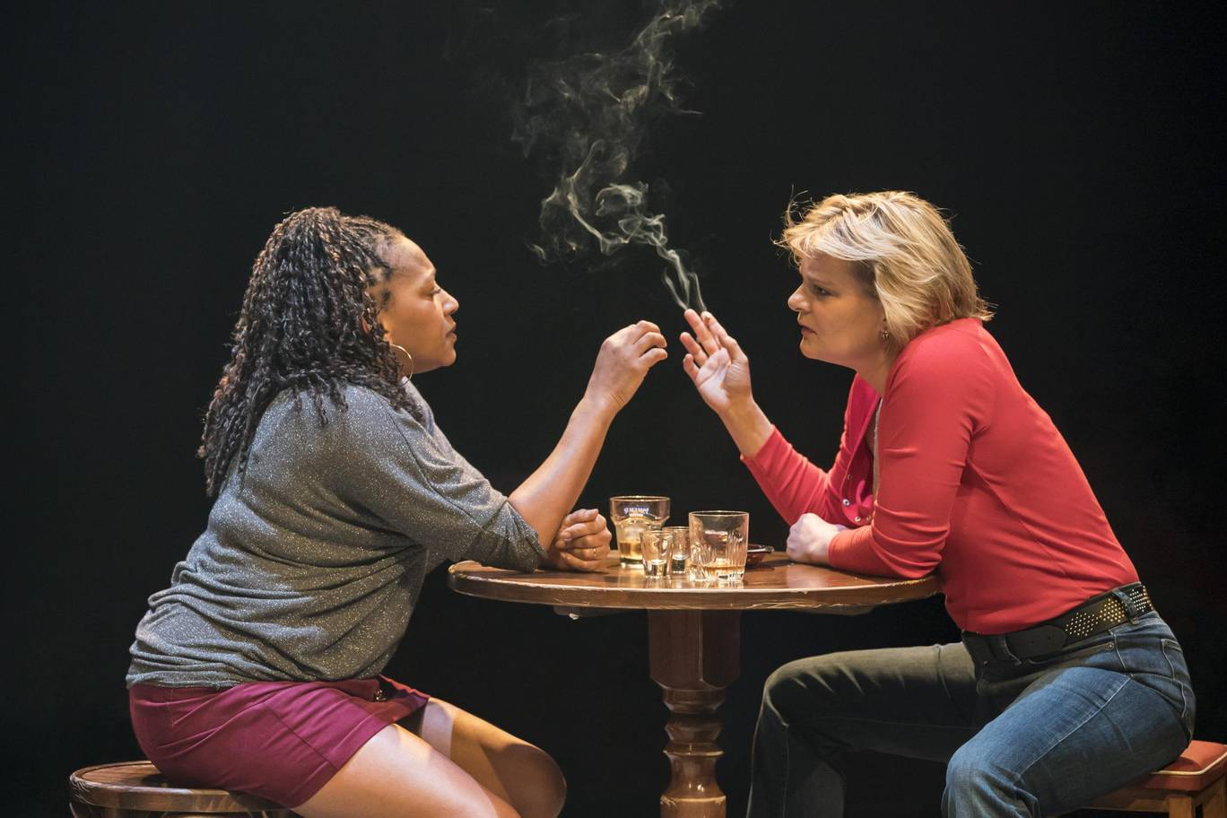 Clare Perkins and Martha Plimpton in Sweat. Photo courtesy of Johan Persson (2018).