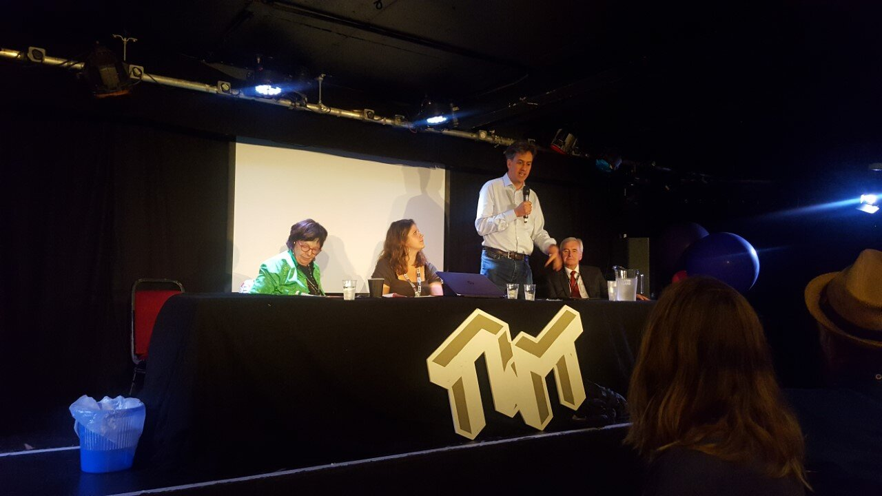 Former Labour leader Ed Miliband speaking at the launch of the 'manifesto for the movement'.