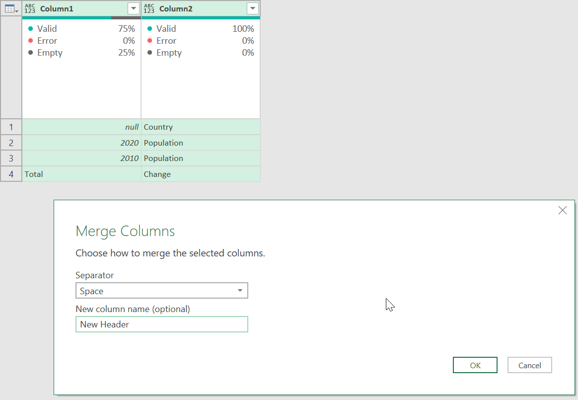 Working With Multiple Row Headers From Excel in Power Query ...