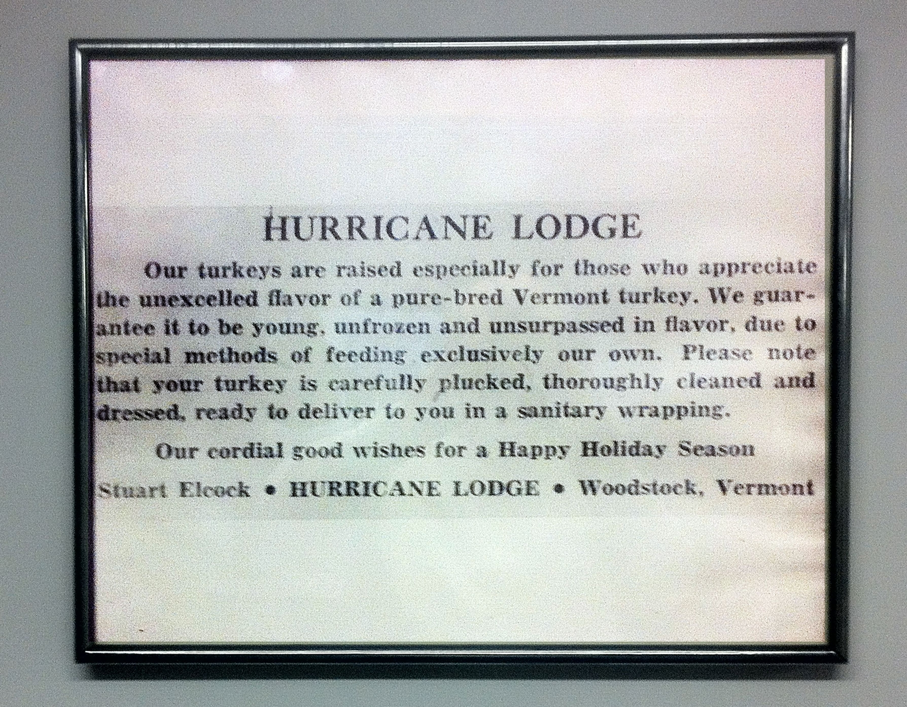 Hurricane Lodge Turkey Farm