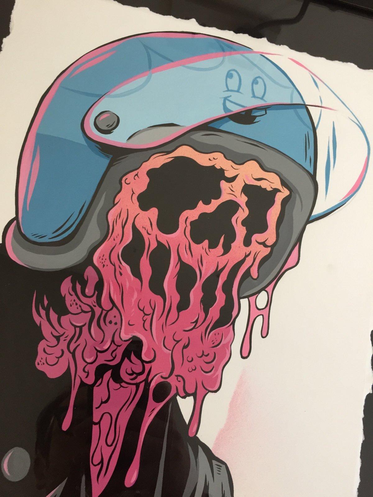 Original All The Gear No Idea Painting Ryan Roadkill