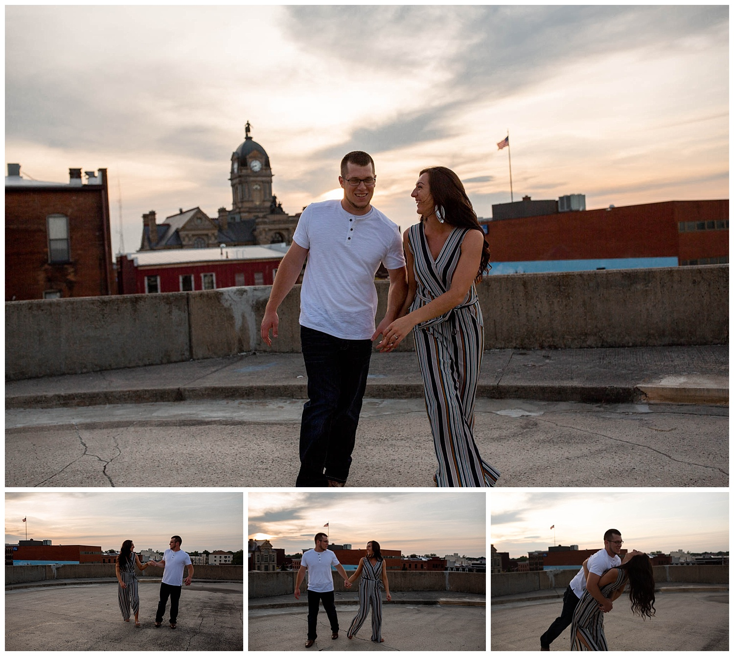 Dowtown Findlay Engagement photos. sunset parking gurage_0225.jpg