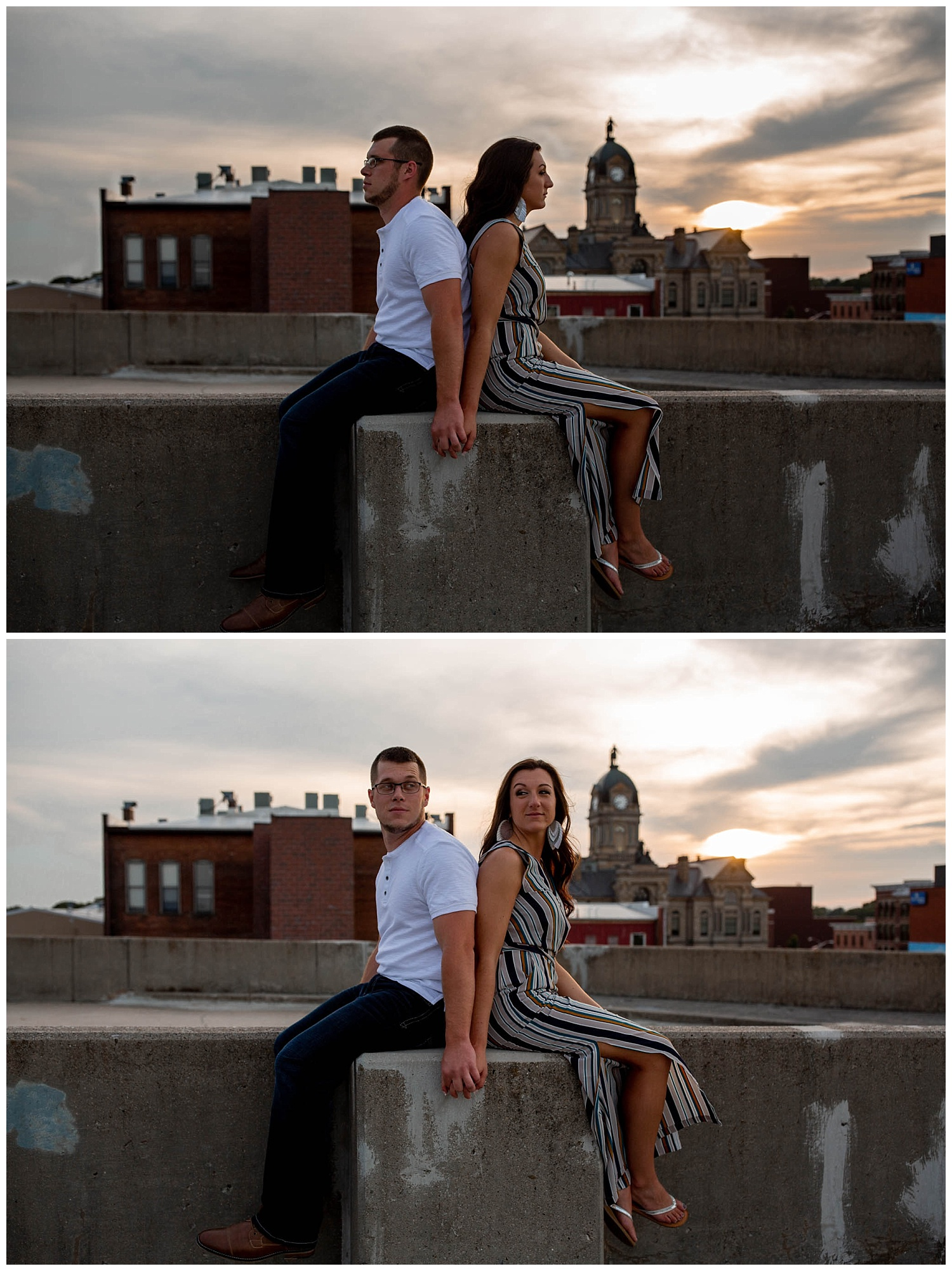 Dowtown Findlay Engagement photos. sunset parking gurage_0224.jpg