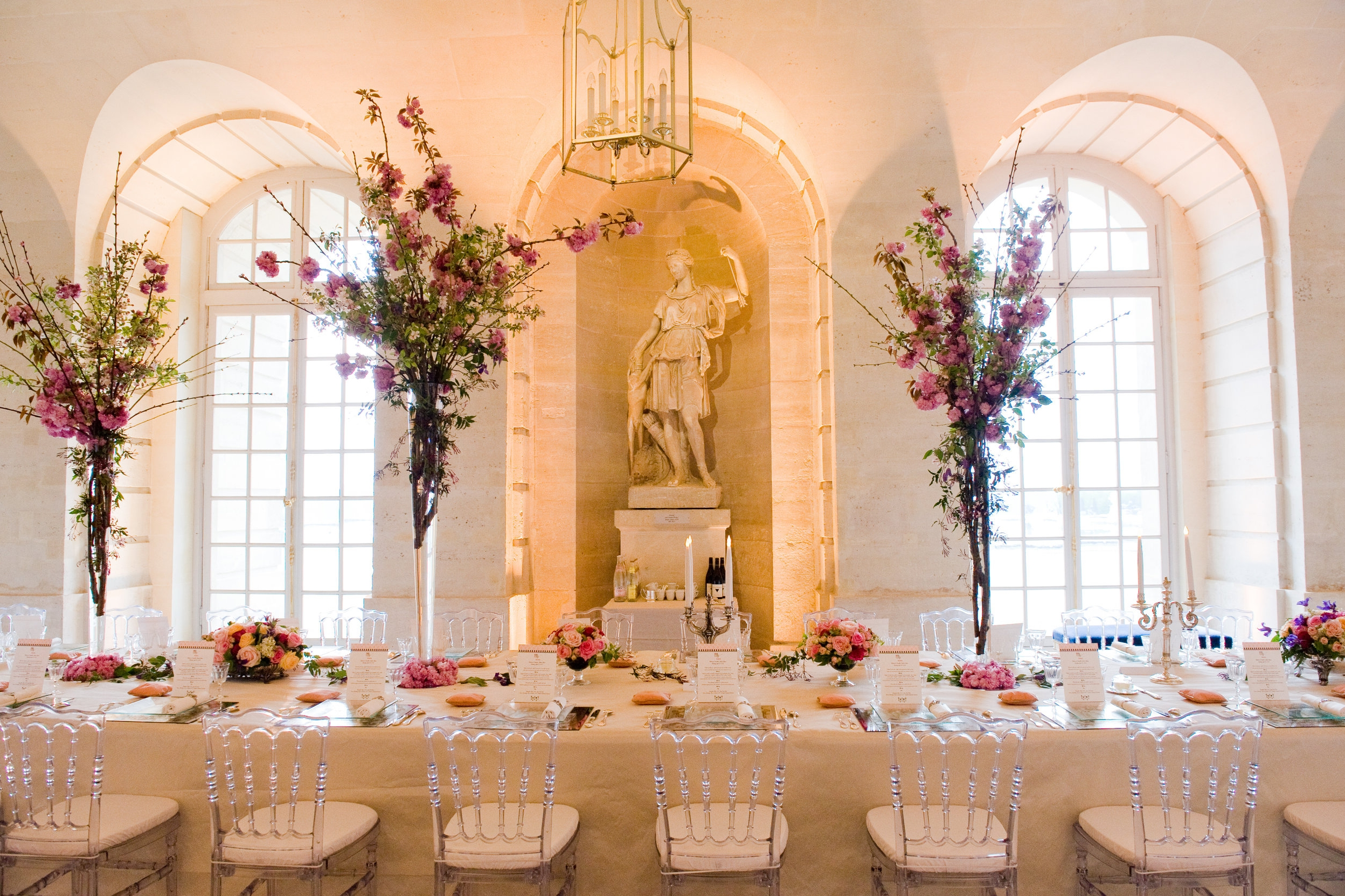 Intimate Dinner at Versailles - An evening designed as a modern soirée for Marie Antionette in the Palace of Versailles.